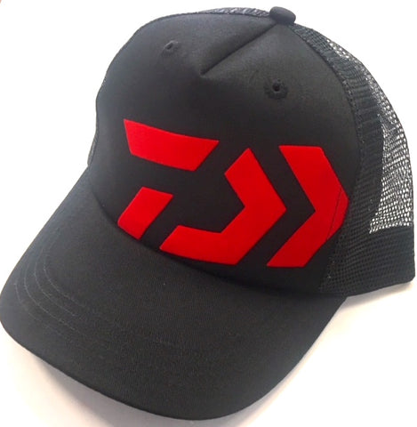 Daiwa Fishing Trucker Cap - Black & Red