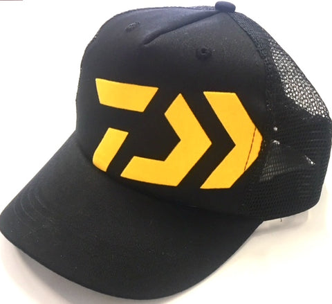 Daiwa Fishing Trucker Cap - Black & Yellow