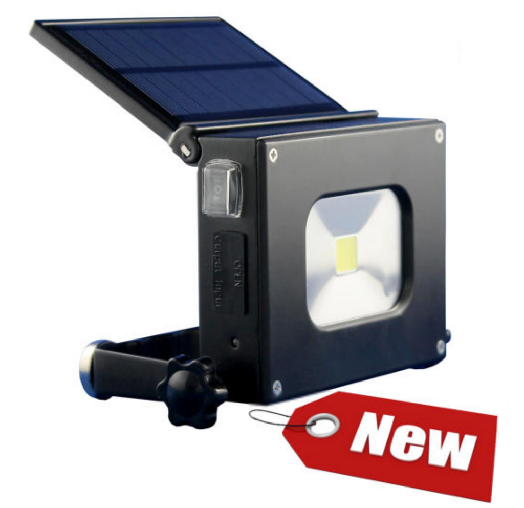 Dogbox Rechargable Work Light With Solar Panel Power