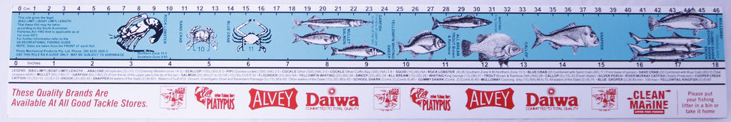 Fish measure sticker ruler fishing wholesalers for Fish ruler sticker