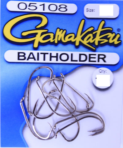 Gamakatsu Baitholder Hook Pocket Pack - Size 6, 10 Pieces