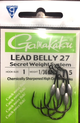 Gamakatsu Lead Belly27 Worm Hook