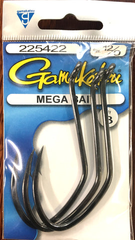 Gamakatsu Mega Bait Hook - Pre Pack 12/0, 3 Pieces
