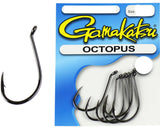 Gamakatsu Octopus Black Hook Pocket Pack - Size 8/0, 6 Pieces