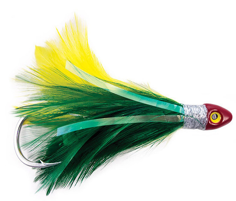 Black Magic Saltwater Chicken Rigged Tuna Skirt - Green / Yellow SCHICKGYD