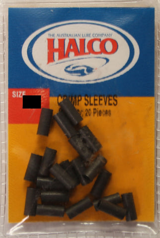 Halco Coated Copper Single Crimp Sleeve - Size A2, 20 Pieces