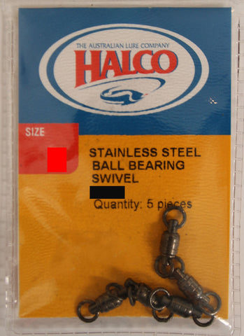 Halco Stainless Steel Ball Bearing Swivel - Size #0 65lb, 5 Pieces