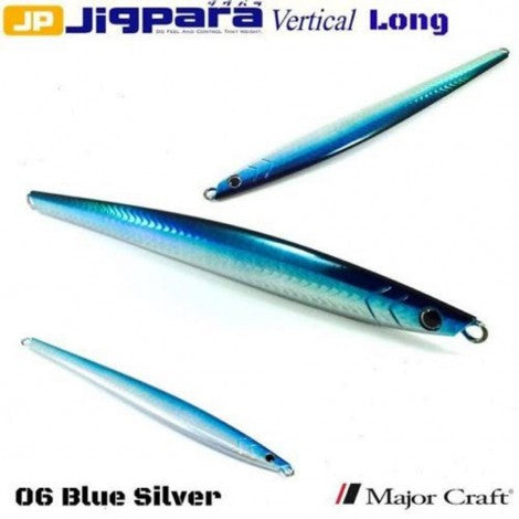 Major Craft Jigpara Vertical Jig - 200g Blue Silver