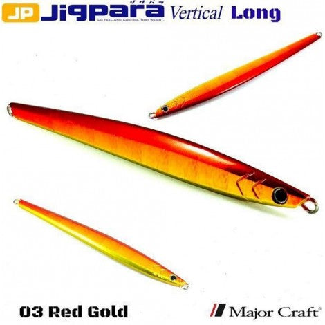 Major Craft Jigpara Vertical Jig - 150g Red Gold