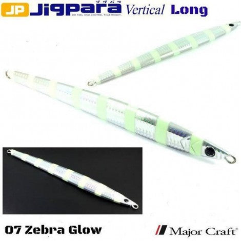 Major Craft Jigpara Vertical Jig - 300g Zebra Glow
