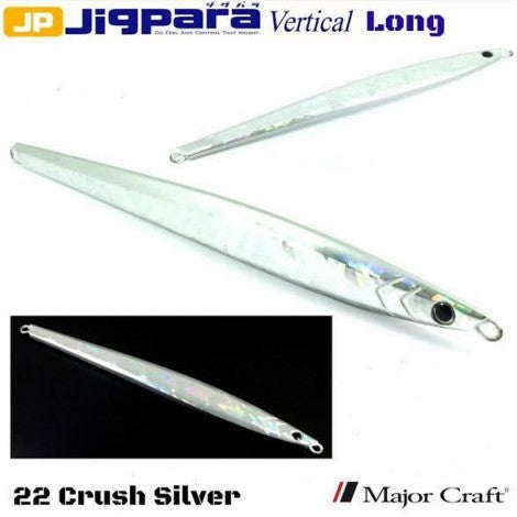 Major Craft Jigpara Vertical Jig - 200g Crush Silver