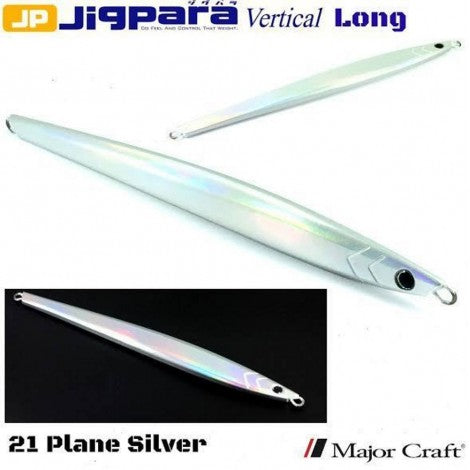 Major Craft Jigpara Vertical Jig - 200g Plain Silver