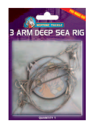 Neptune Tackle 3 Arm Deep Sea Clip-On Rig