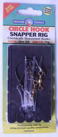 Neptune Tackle Snapper Rig Circle Hook - Size 3/0 CHSNRR