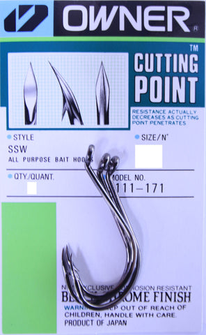 Owner SSW All Purpose Bait Hook Cutting Point