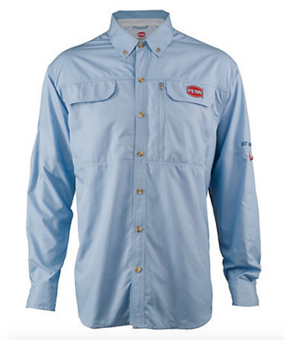 Penn Long Sleeve Vented Performance Fishing Shirt - Medium