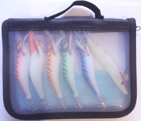 SABS Squid Jig & Jag Pack with case