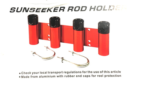 Sunseeker Bull Bar Fishing Rod Holder Red