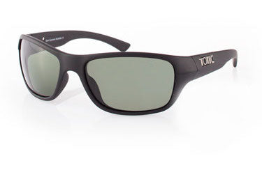 "Tonic Eyewear Glass Lens Polarised Sunglasses ""Rush"" Matt Black Frame Photochromic Grey"