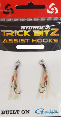 Atomic Trick Bitz Fishing Assist Hooks - Size 10 - 01 Gold Fleck