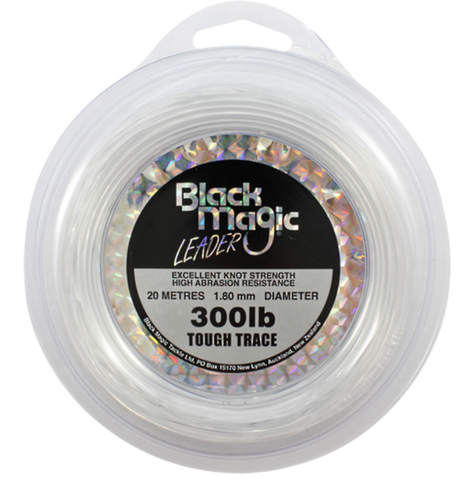 Black Magic Tough Trace Leader Line - 300lb 20m Spool
