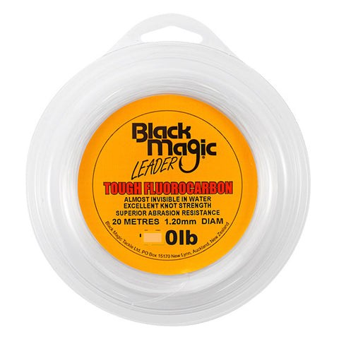Black Magic Tough Fluorocarbon Fishing Leader - 120lb 20m Spool
