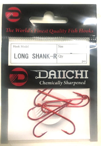 Daiichi Long Shank-R Hook Pocket Pack - Size 10, 10 Pieces