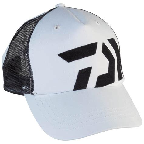 Daiwa Fishing Trucker Cap - White & Black