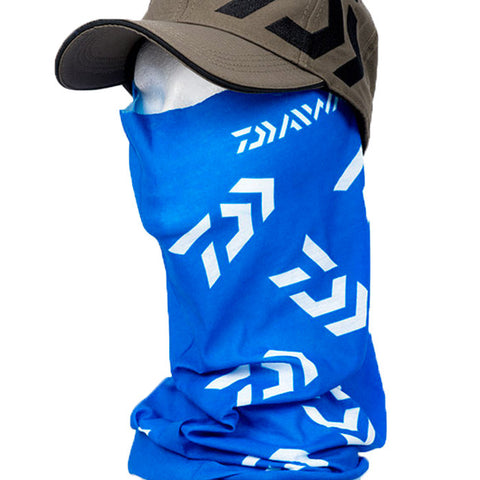 Daiwa Headsock Head Sock Sun and Wind Face Mask - Blue White