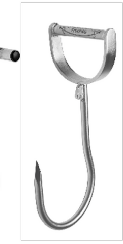 Hookem Hand Gaff Fishing Meat Hook - D HANDLE