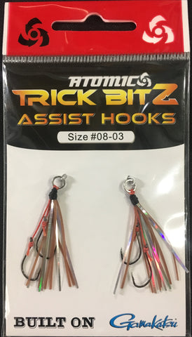 Atomic Trick Bitz Fishing Assist Hooks - Size 8 - Colour 03 Brown Silver