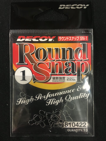 Decoy Round Snap Fishing Clip - Size 1, 22lb, 13 pcs #810422