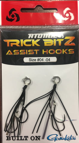 Atomic Trick Bitz Fishing Assist Hooks - Size 4 Colour - 04 Black Silver