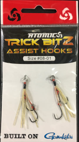 Atomic Trick Bitz Fishing Assist Hooks - Size 8 - Colour 01 Gold Fleck