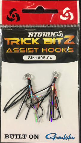 Atomic Trick Bitz Fishing Assist Hooks - Size 8 - Colour 04 Black Silver