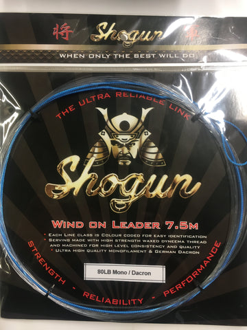Shogun Wind On Leader 80lb - 7.5 metre