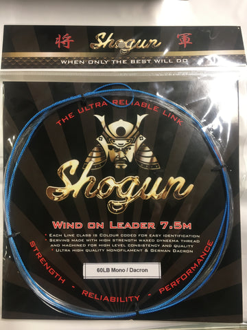 Shogun Wind On Leader 60lb - 7.5 metre