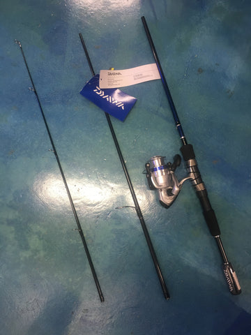 "Daiwa D Shock Travel Rod & Reel Combo 7'0"" 6-14lb 3 Piece"