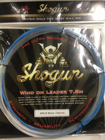 Shogun Wind On Leader 400lb - 7.5 metre