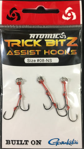 Atomic Trick Bitz Fishing Assist Hooks - No Skirt - Size 8