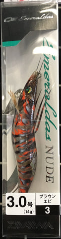 Daiwa Emeraldas Nude Squid Jig Size 3.0 Colour #3 Brown Ebi