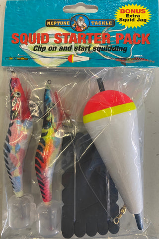 Neptune Squid Jig Rig Starter Pack with two Squid Jigs
