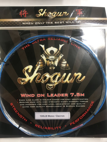 Shogun Wind On Leader 100lb - 7.5 metre
