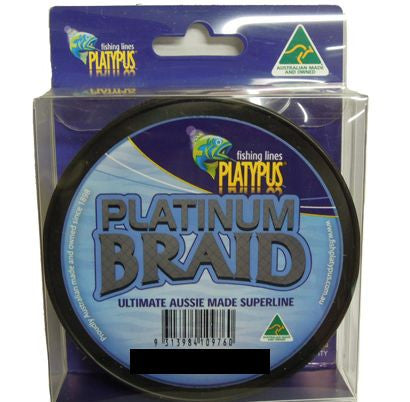 Platypus Platinum Fishing Braid 300yd Yellow - 5lb
