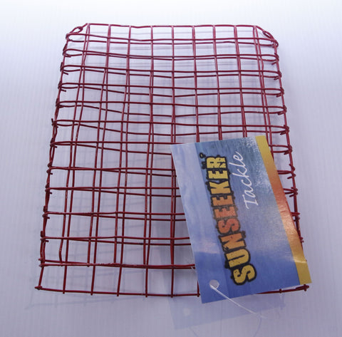Sunseeker Red Wire Fishing Bait Basket Cage Envelope - Large