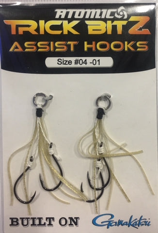 Atomic Trick Bitz Fishing Assist Hooks - Size 4 Colour - 01 Gold Fleck