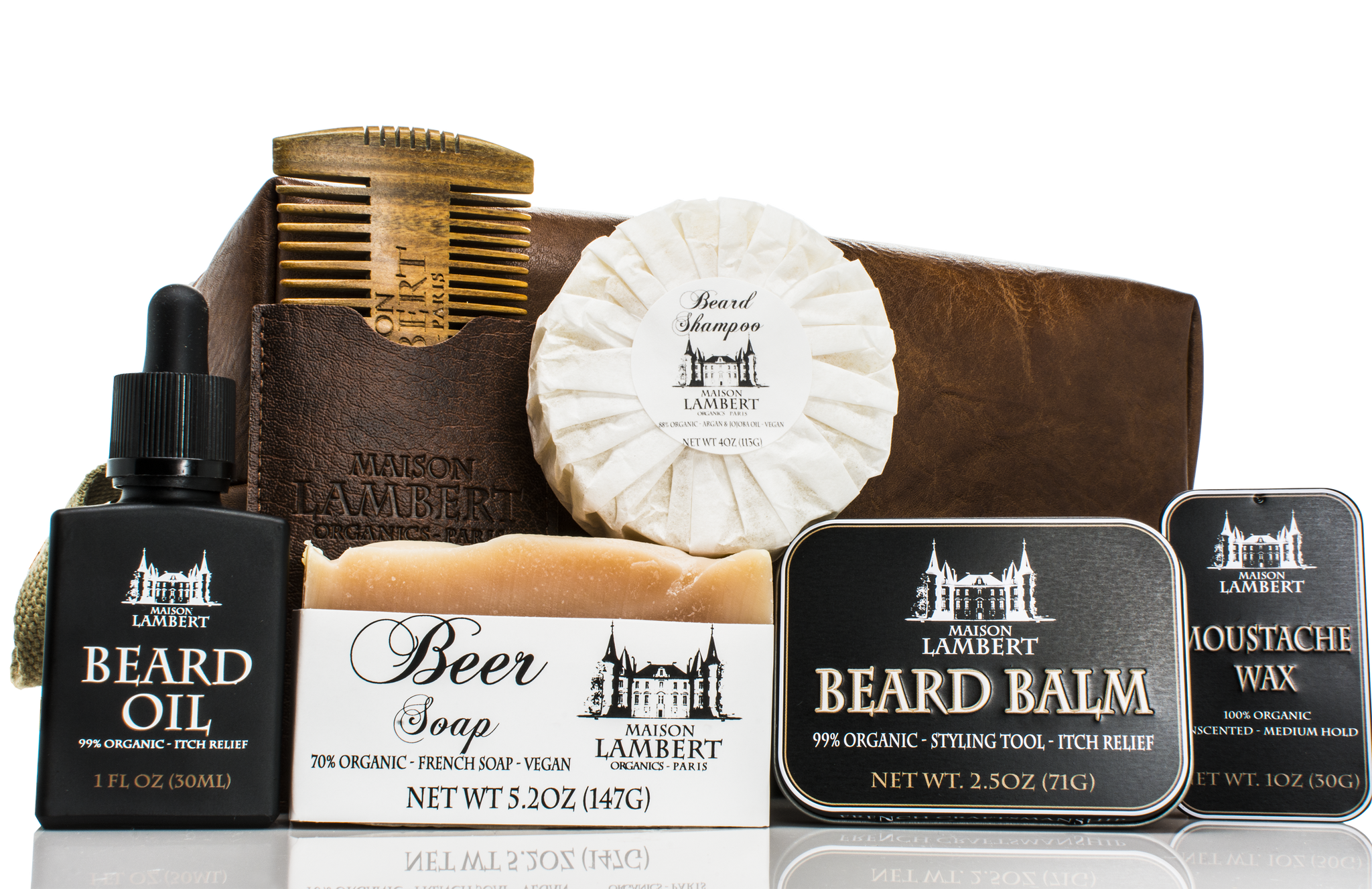 Beard Kit - Ultimate Beard Kit In Vegan Leather Bag