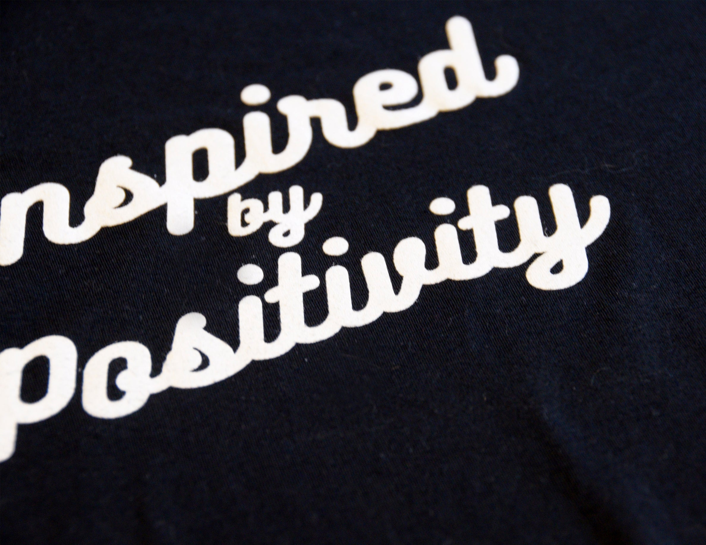 INSPIRED BY POSITIVITY // T-Shirt Noir // Black Tee