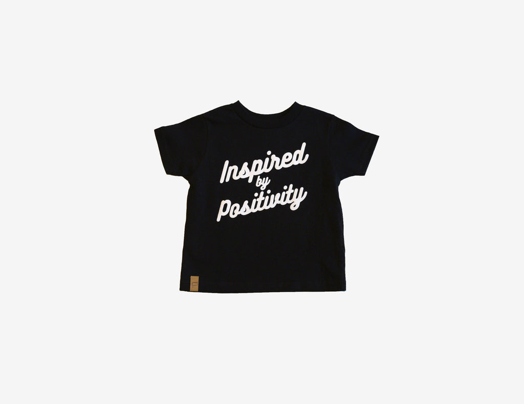 INSPIRED BY POSITIVITY // T-Shirt Enfant Noir // Black Toddler Tee