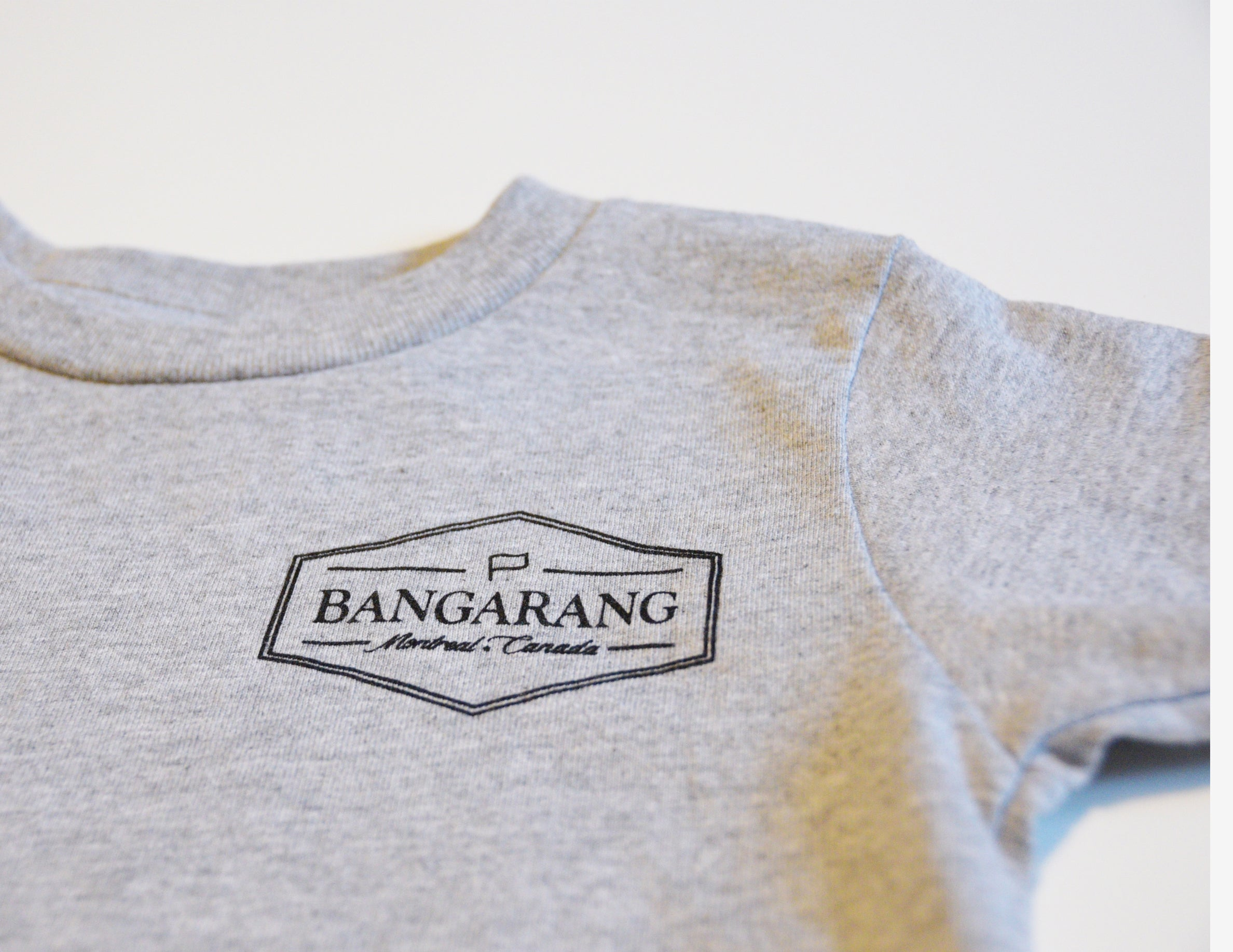 BANGARANG LOGO // T-Shirt Enfant Gris // Heather Toddler Tee